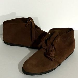 Keds Essentials Brown Suede Leather Booties Shoes